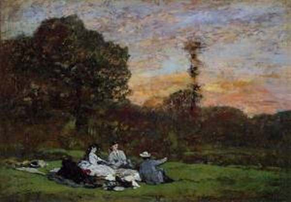 Luncheon on the Grass the Family of Eugene Manet 1866